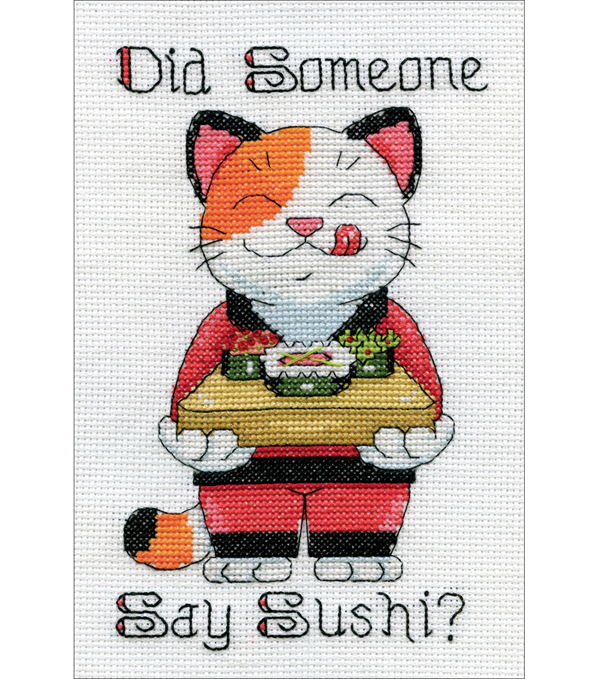 Design Works Crafts 5\u0027\u0027x7\u0027\u0027 Counted Cross Stitch Kit-Say Sushi