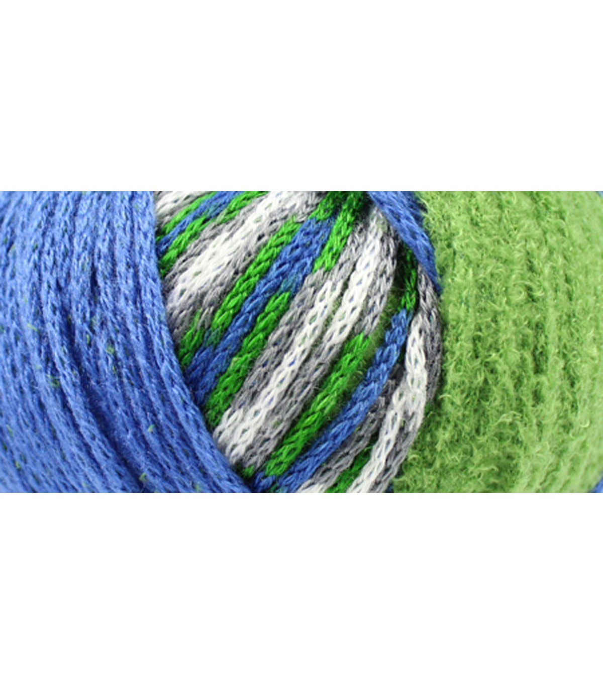 DMC Top This! Team Colors Yarn-Green & Blue