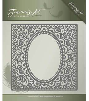 Find It Trading Jeanine\u0027s Art with Sympathy Cutting Die-Rose Frame