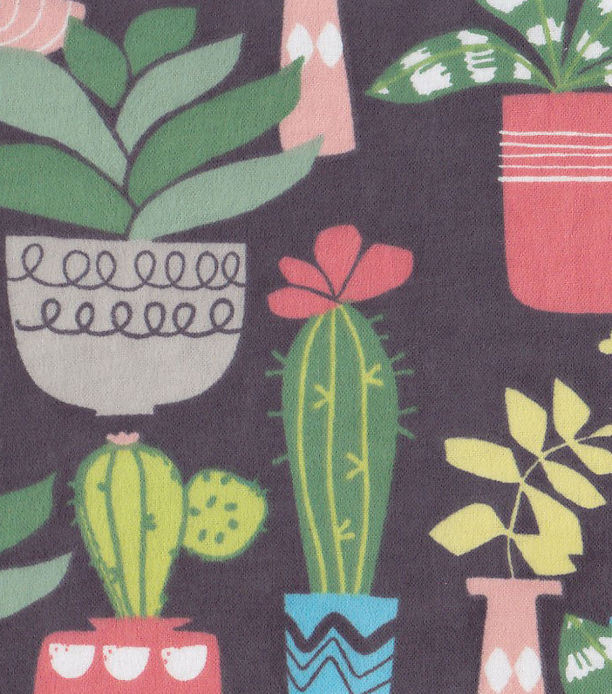Snuggle Flannel Fabric -Cactus