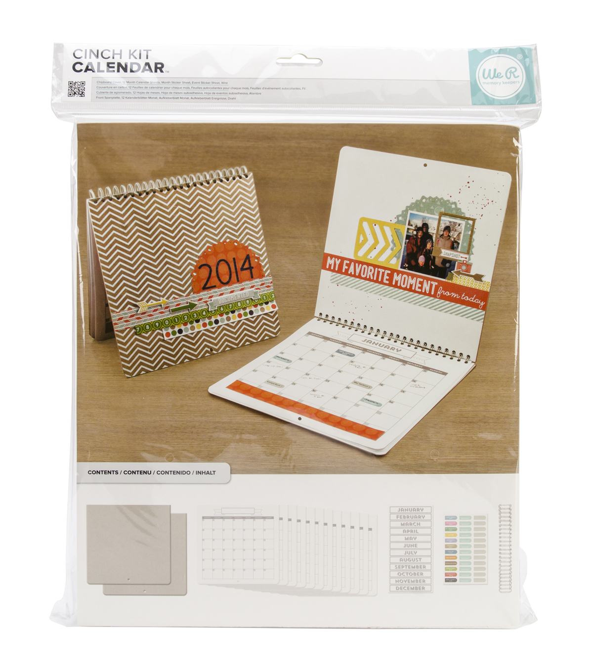 Cinch Calendar Kit 12.5\u0022X13.25\u0022-Covers, Pages&Wire