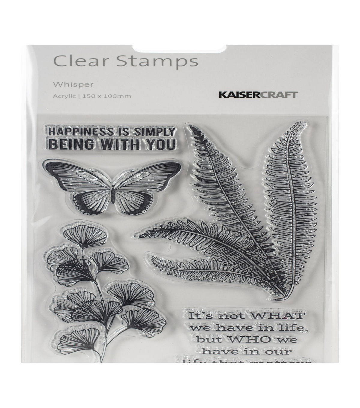 Kaisercraft Whisper 5 pk Clear Stamps