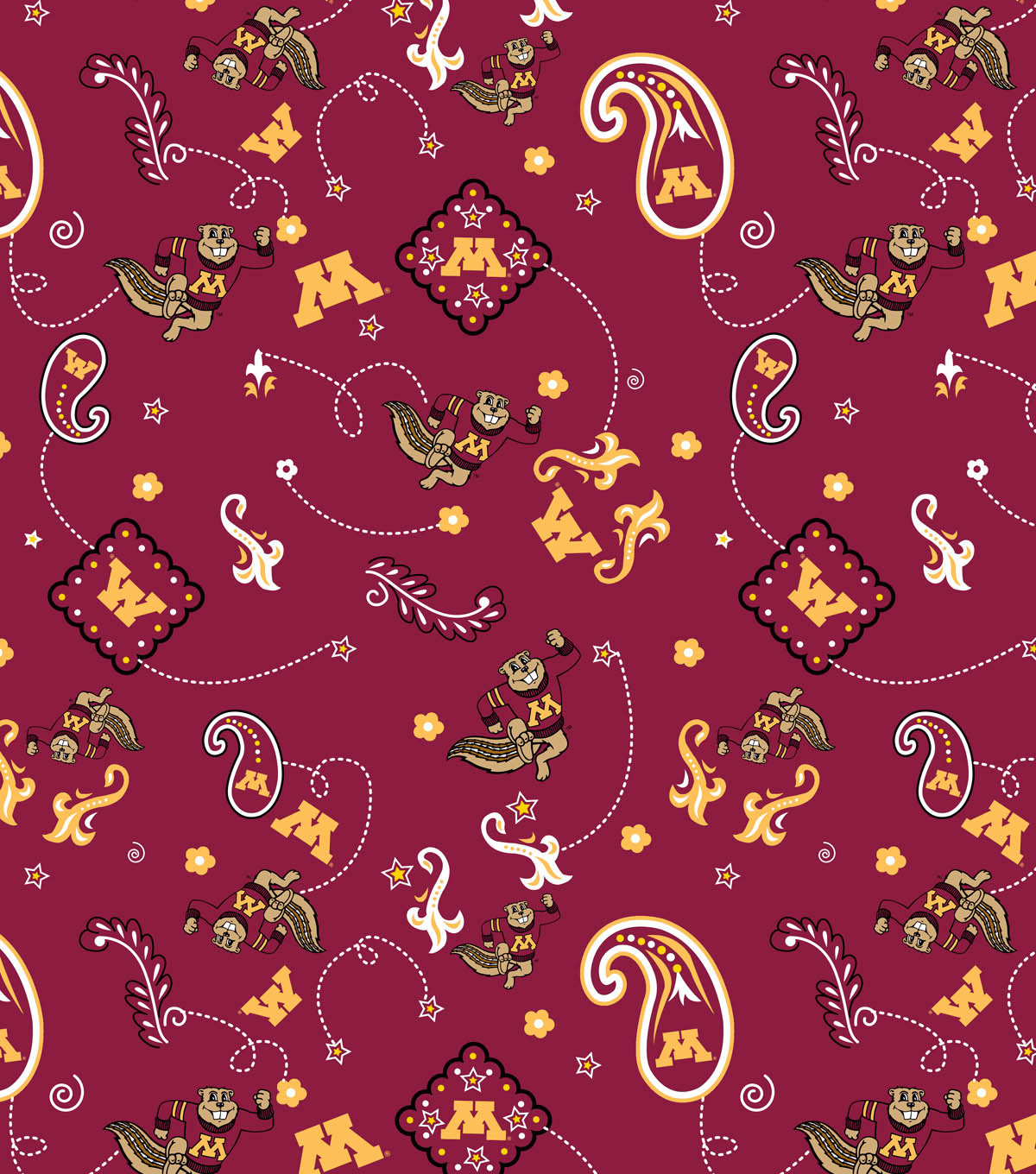 University of Minnesota Gophers Cotton Fabric -Bandana