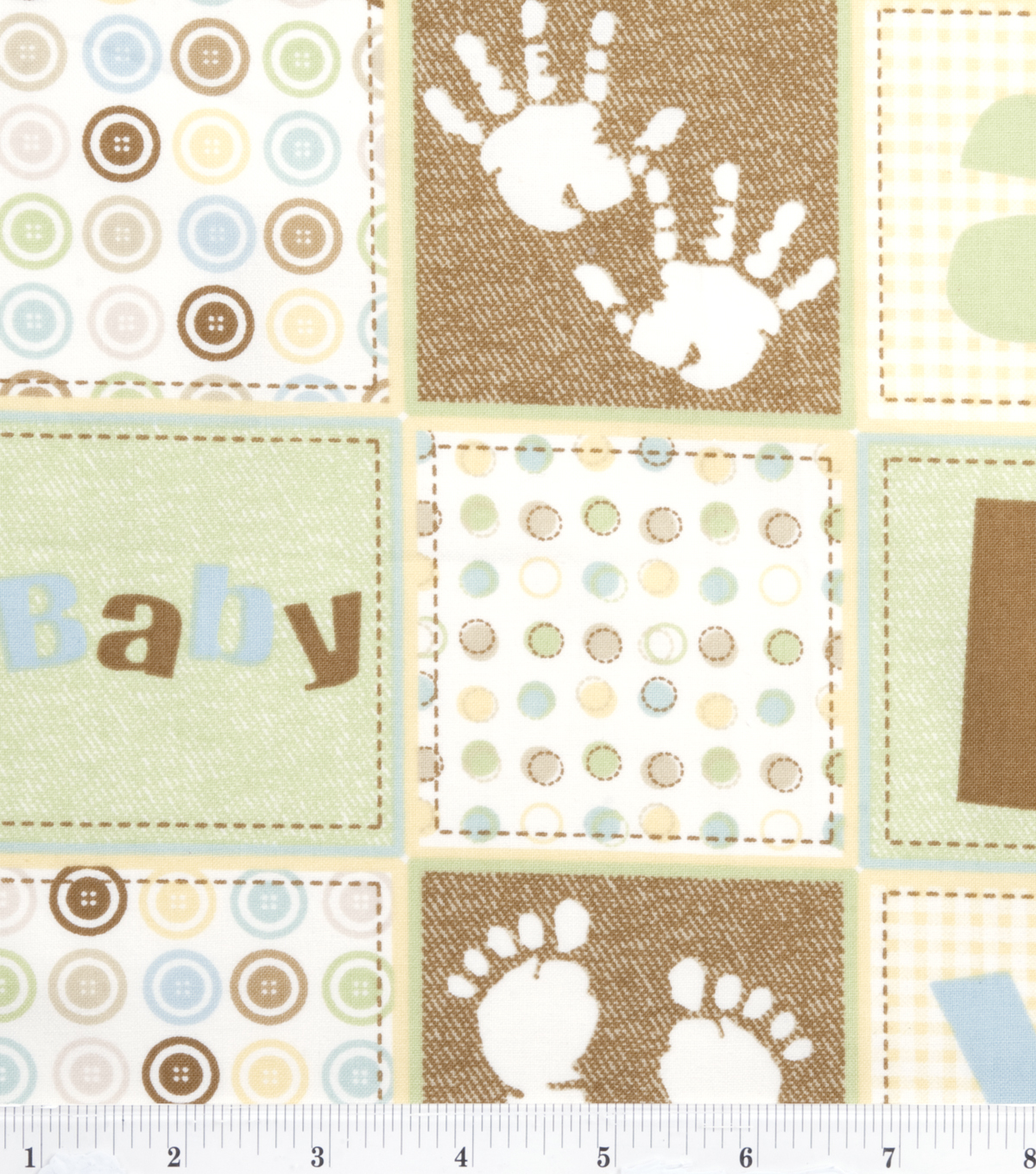 Nursery Flannel Fabric Oh Baby Patch