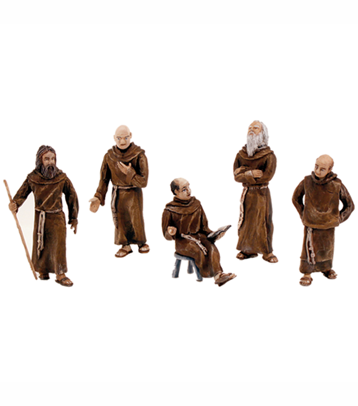 Friars/Monks Figurines 5/Pkg-