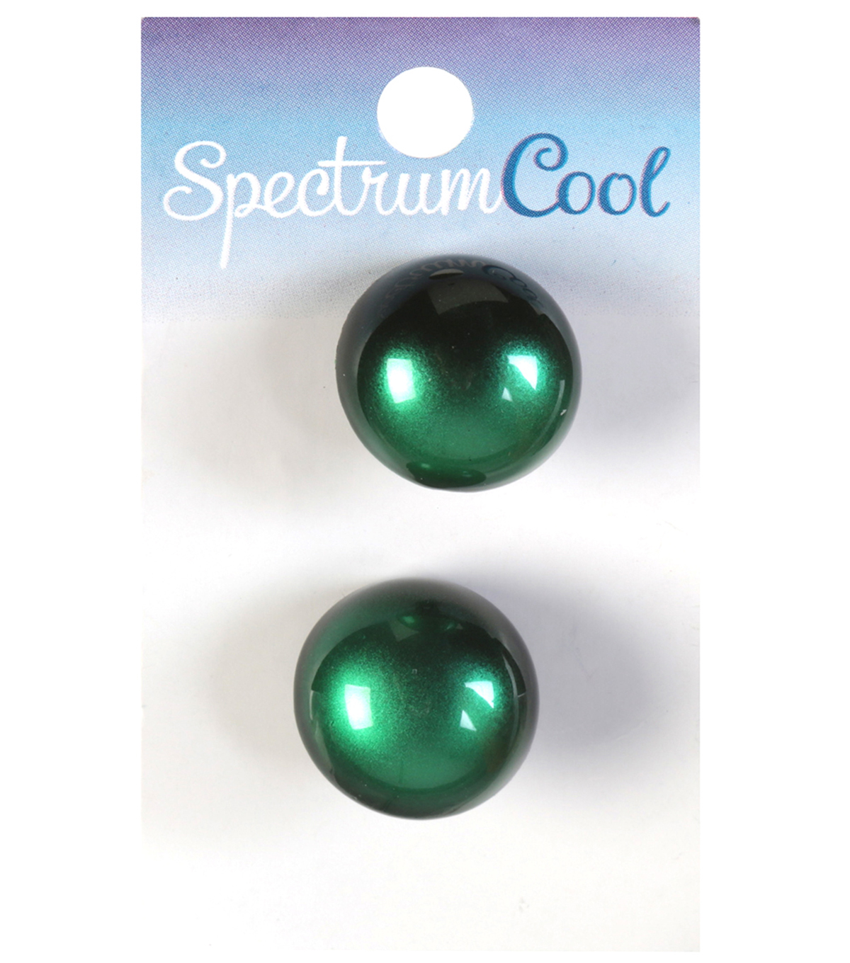 Spectrum Cool Dome Shaped Green Black Obmre Shank Buttons