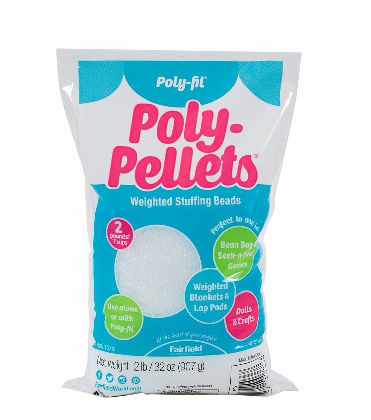 Poly Fil Poly Pellets Weighted Stuffing Beads 2 Lb Bag Joann