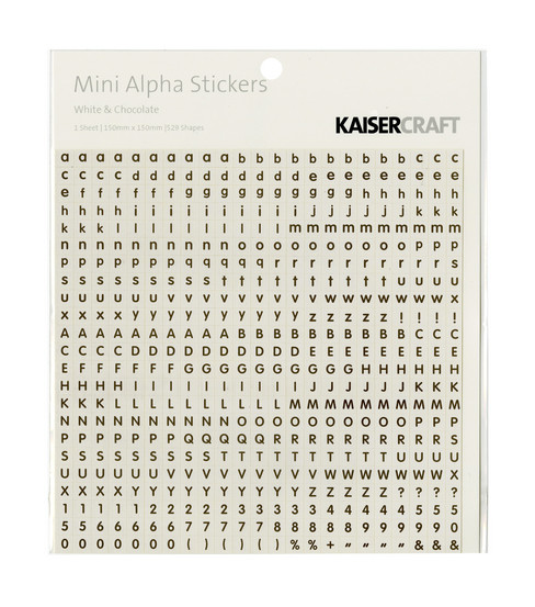 Kaisercraft Mini Stickers-Alphabet