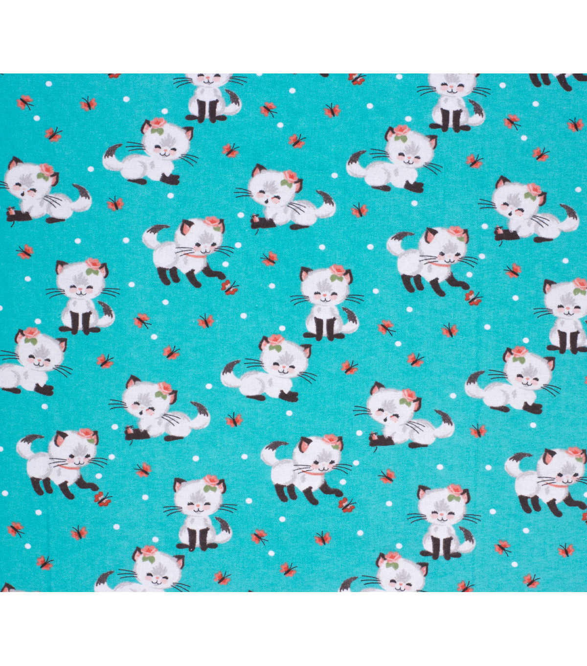 Super Snuggle Flannel Fabric-Pretty Kitty Plays