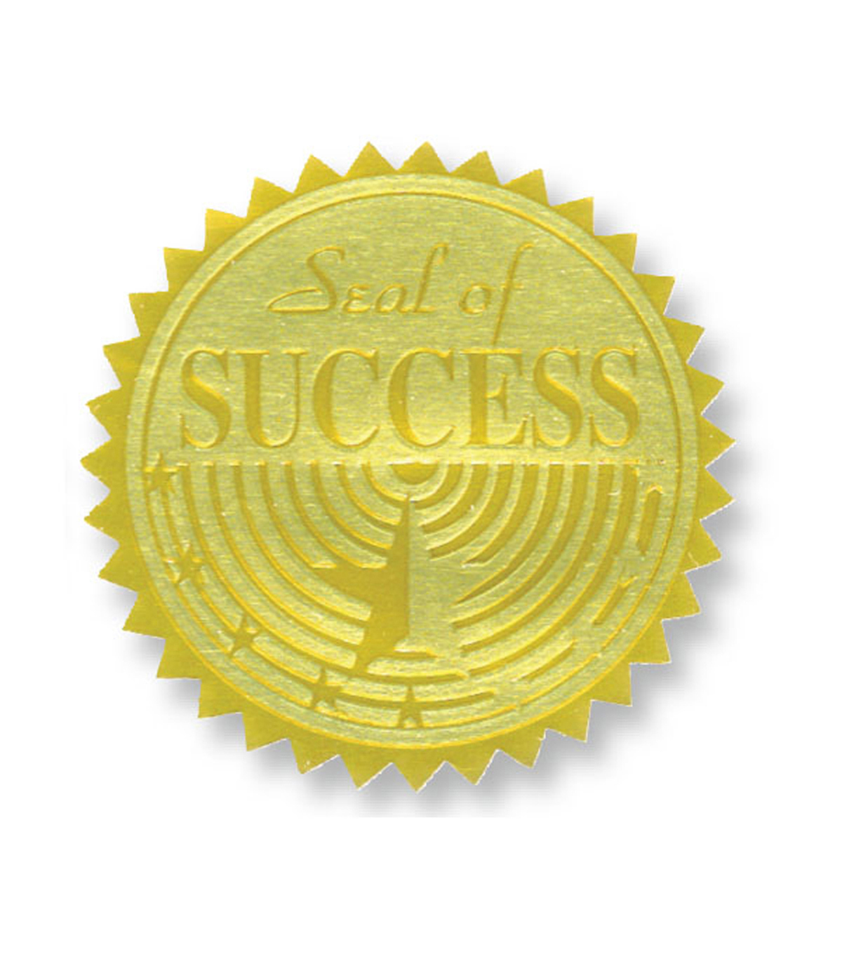 Hayes Gold Foil Embossed Seals, Seal of Success, 54 Per Pack, 3 Packs