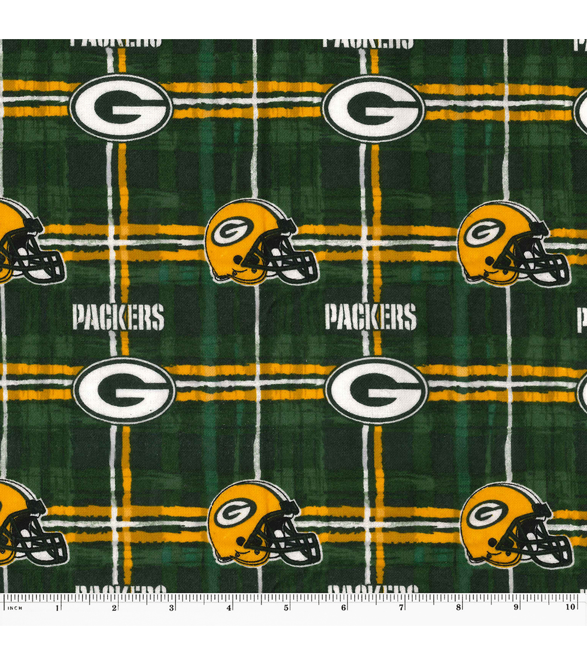 "Green Bay Packers Plaid Flannel Fabric 42""  11fe685a9"