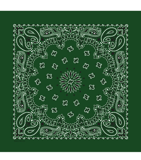 Hav-A-Hank Paisley Bandanna-Hunter Green