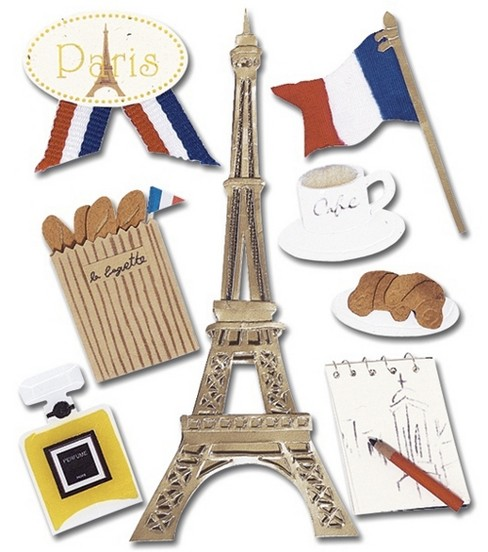 Jolee\u0027s Boutique Themed Stickers-Paris