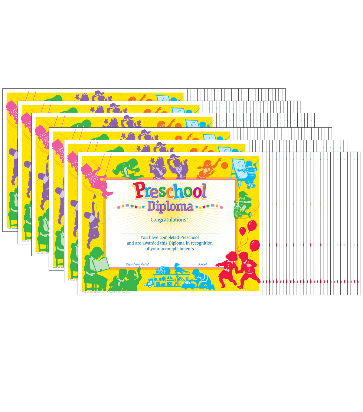 Trend Enterprises Inc. Classic Preschool Diploma, 30 Per Pack, 6 Packs