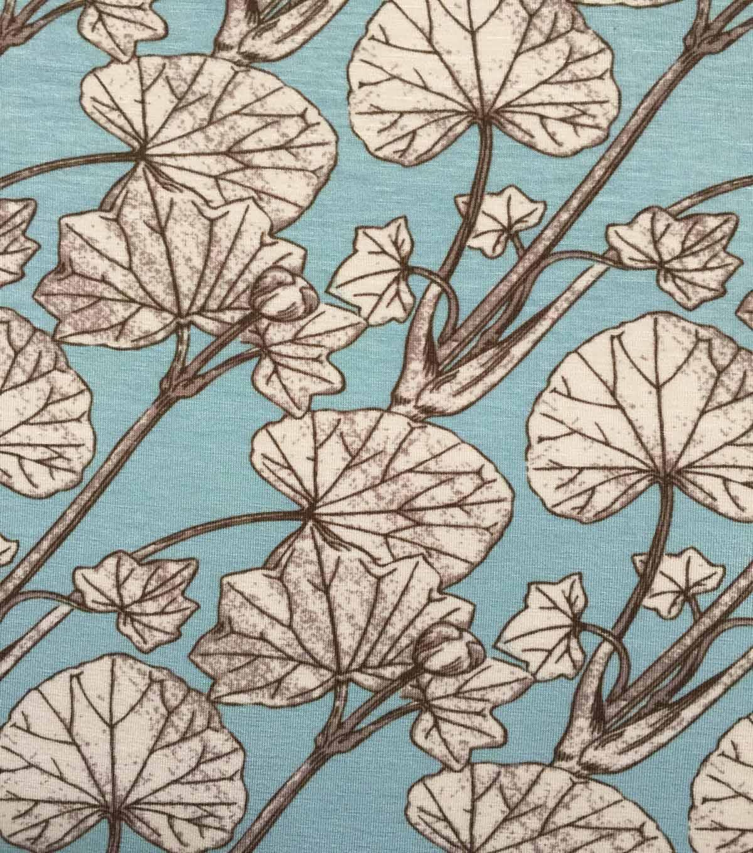 e79ad1e1d68 Knit Fabric 57\u0027\u0027-Lily Pads on Aqua