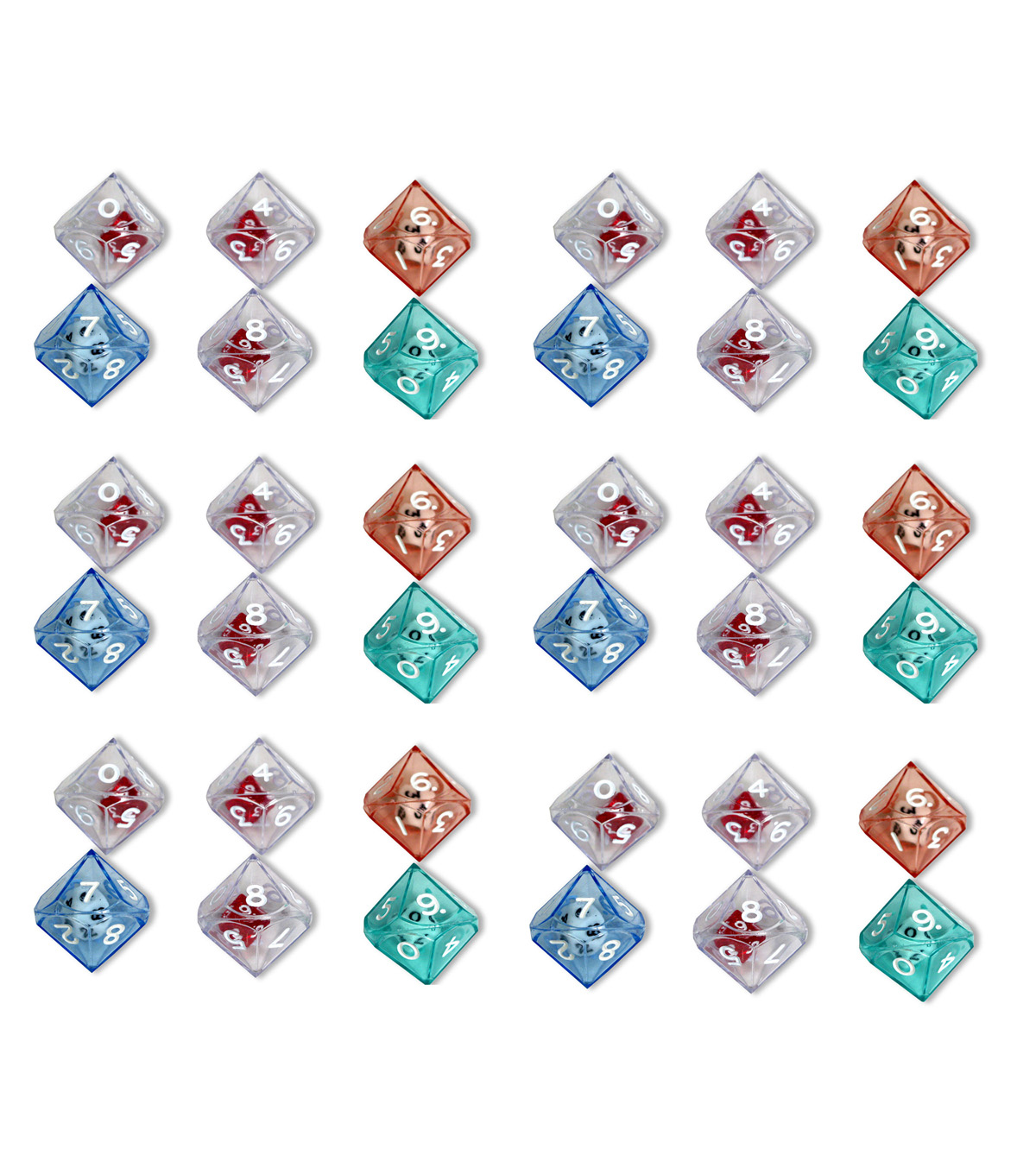 Koplow Games 10-Sided Double Dice, 6 Per Pack, 6 Packs