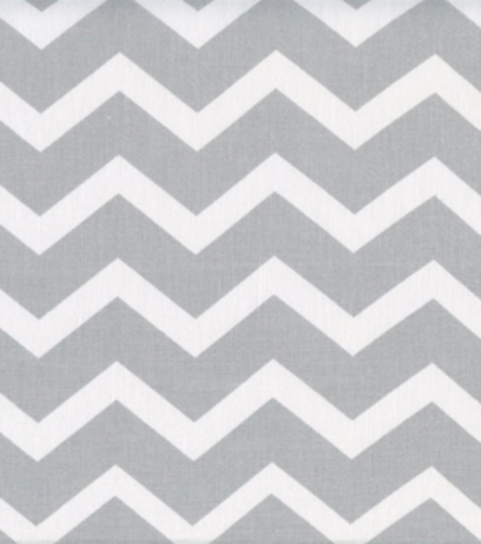 keepsake calico cotton fabric gray white chevron joann