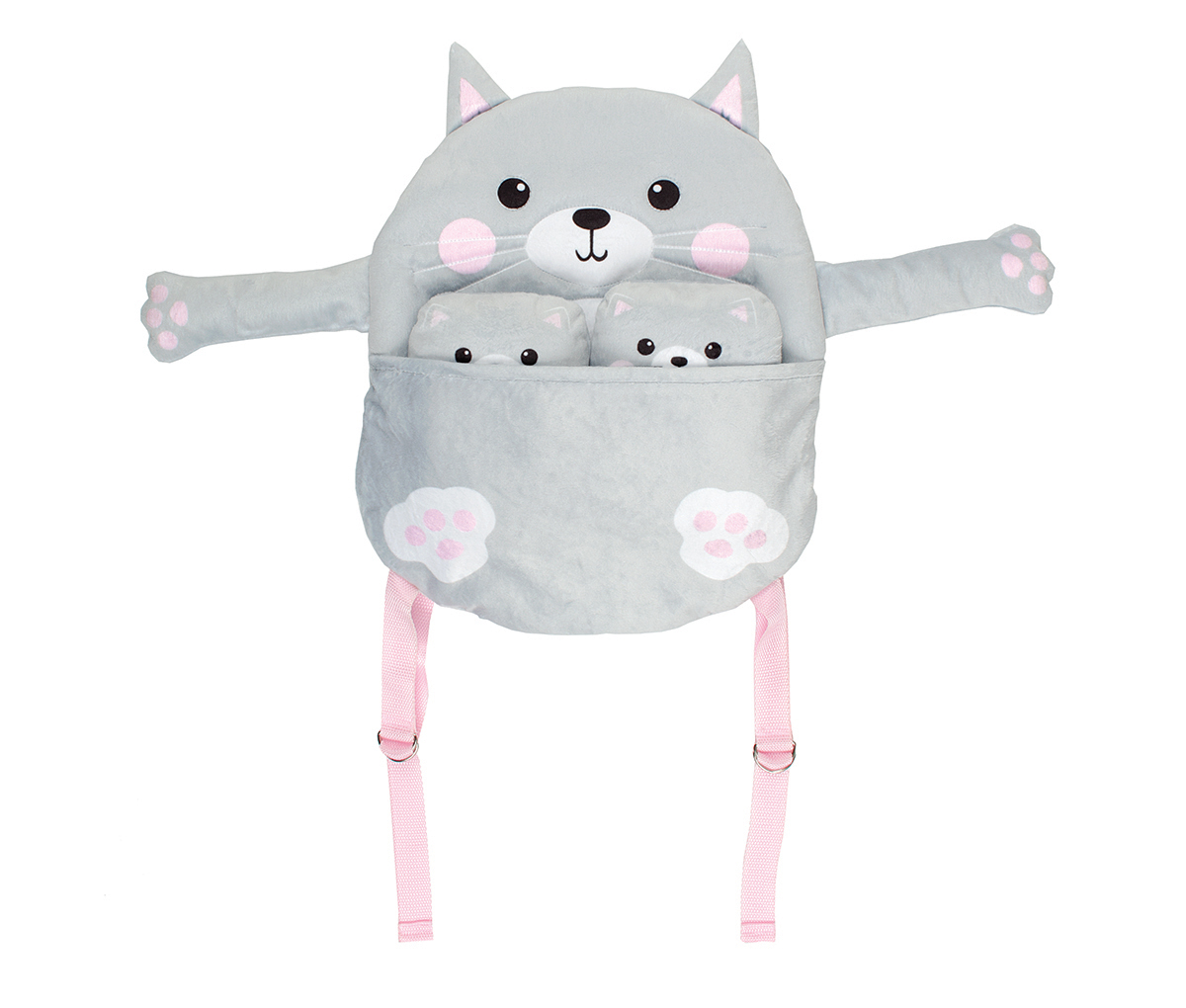 Pack & Pals Plush Backpack & Pals Kit-Cat