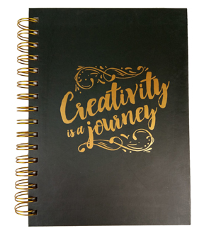 Park Lane 7.5\u0027\u0027x9.5\u0027\u0027 Spiral Notebook-Creativity is a Journey
