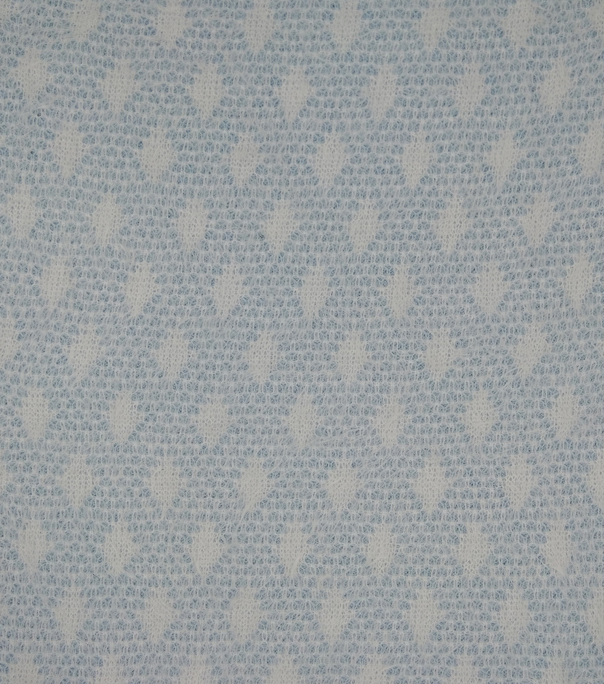 Fuzzy Sweater Knit Fabric 57\u0022-Blue Geo