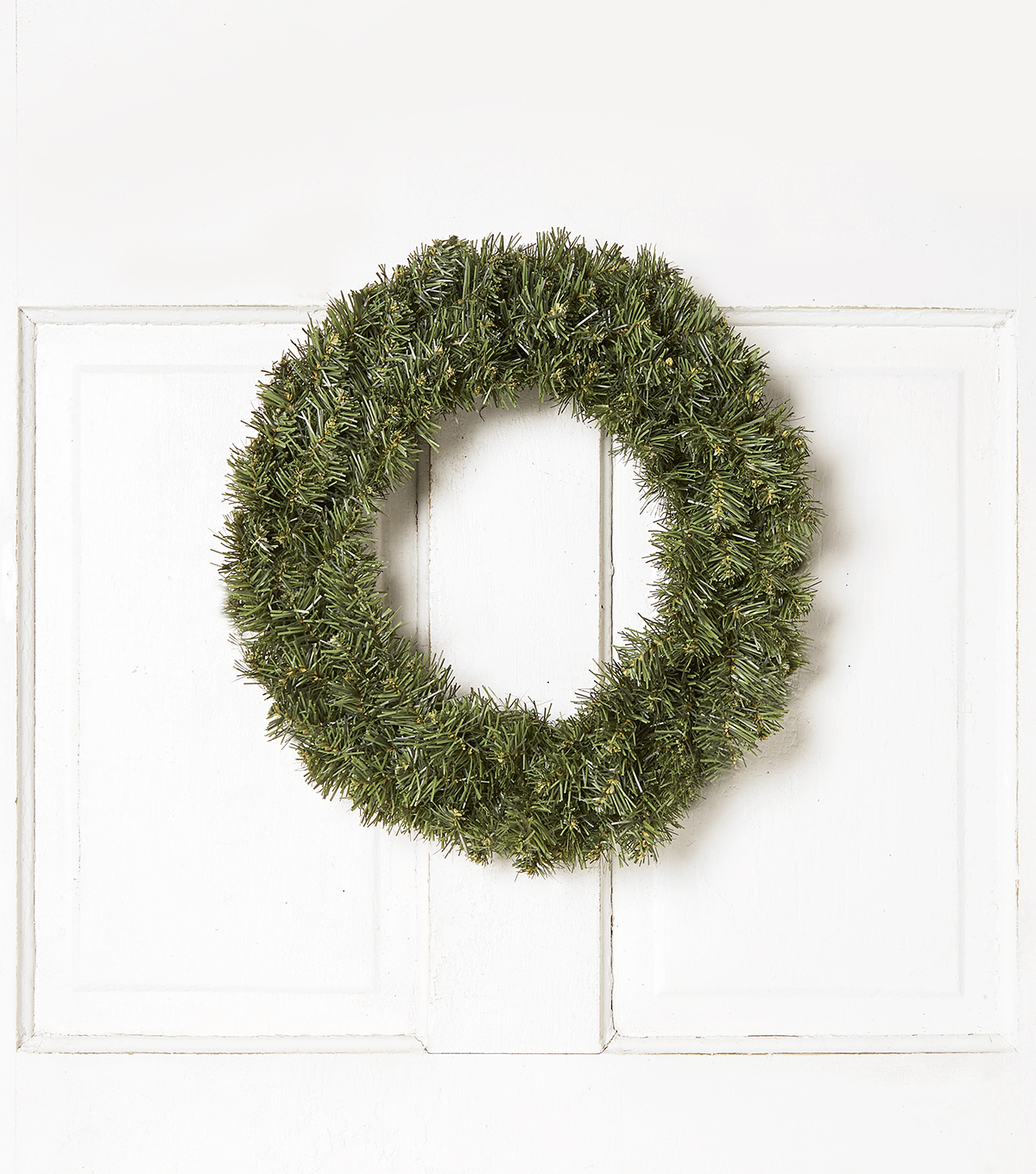 Blooming Holiday 16\u0027\u0027 Pine Wreath