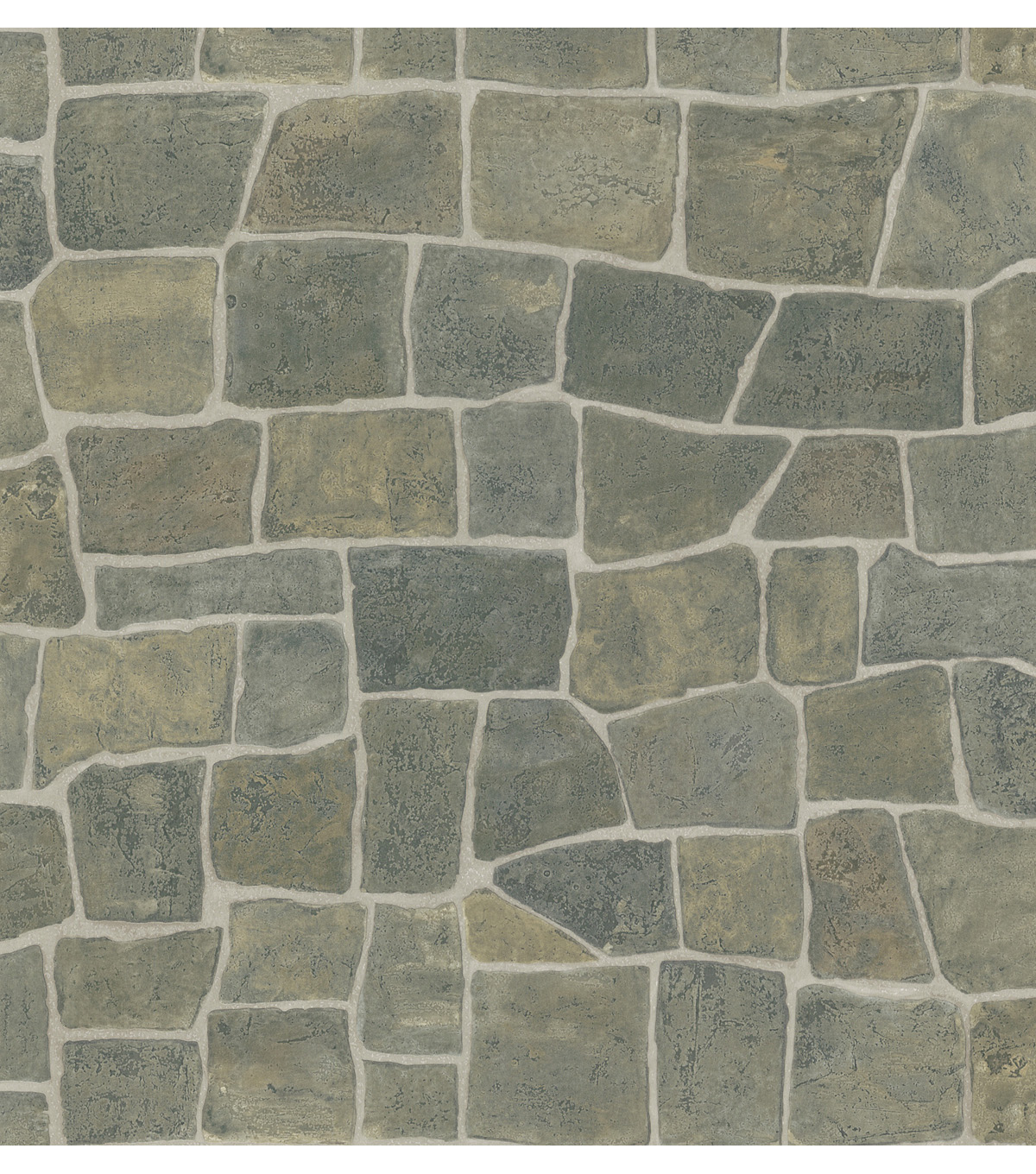 Slate Grey Rock Wall Wallpaper Sample