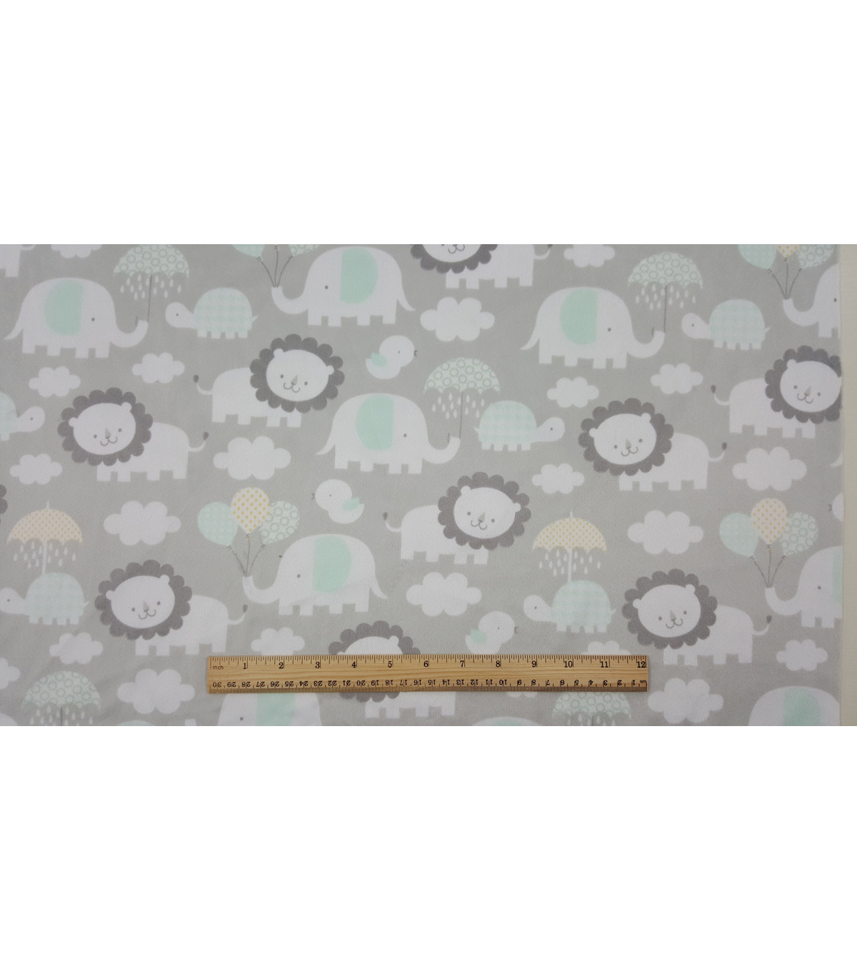 Soft & Comfy Nursery Fabric 57\u0022-Elephant Raishowers