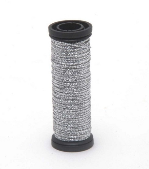 Kreinik Braid Metallic Thread Fine Size 8, Silver - 001