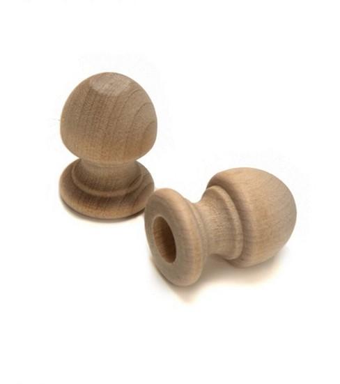 Wood Shapes Acorn Dowel Cap 2 Per Package
