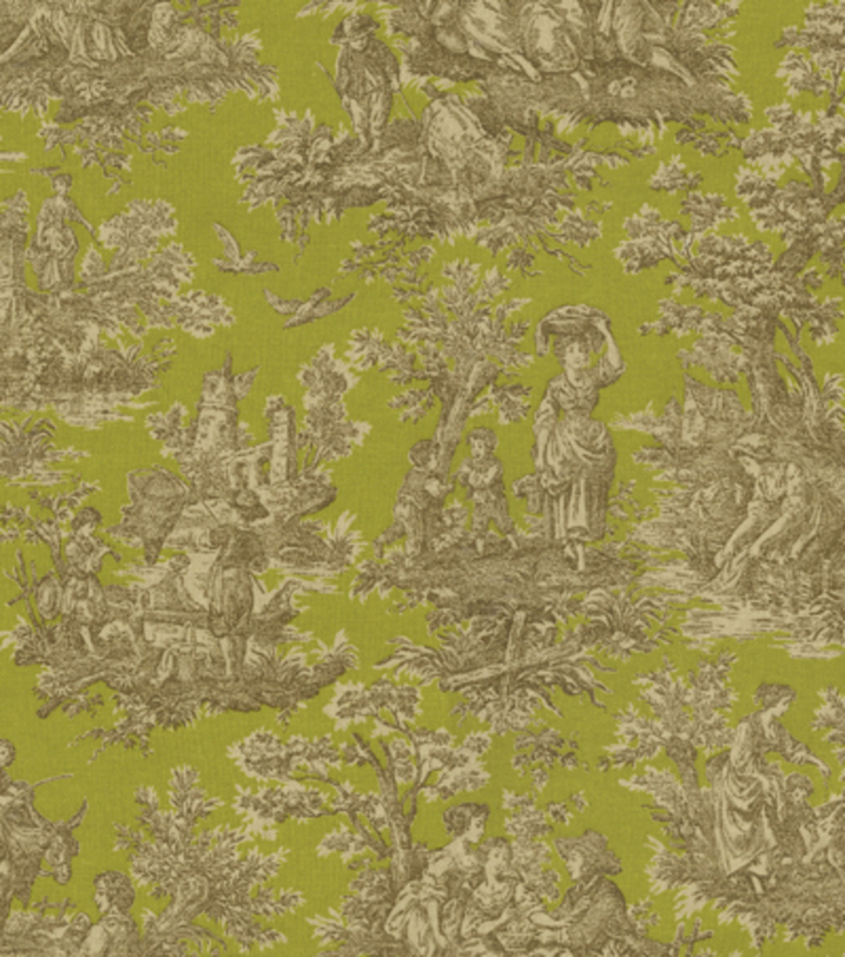 Home Decor 8\u0022x8\u0022 Fabric Swatch-Waverly Artisanal Toile/Crme de Menthe