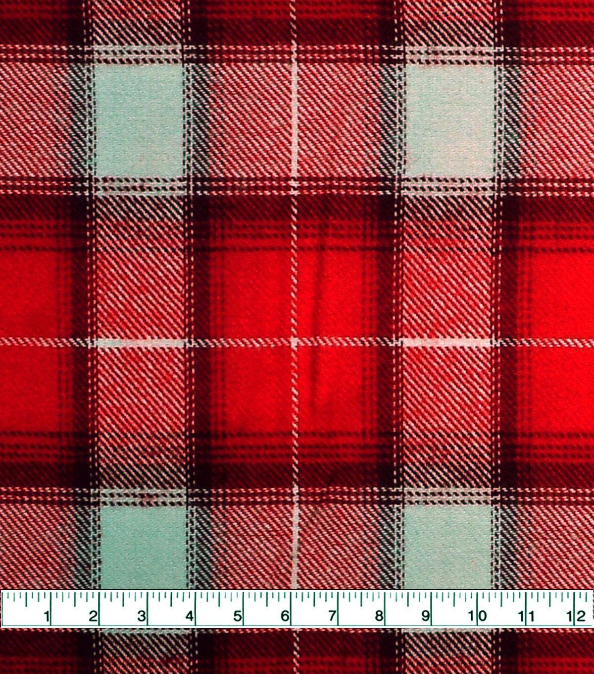 Shirting Cotton Fabric -Red, Burgundy & Ivory Ombre Plaid