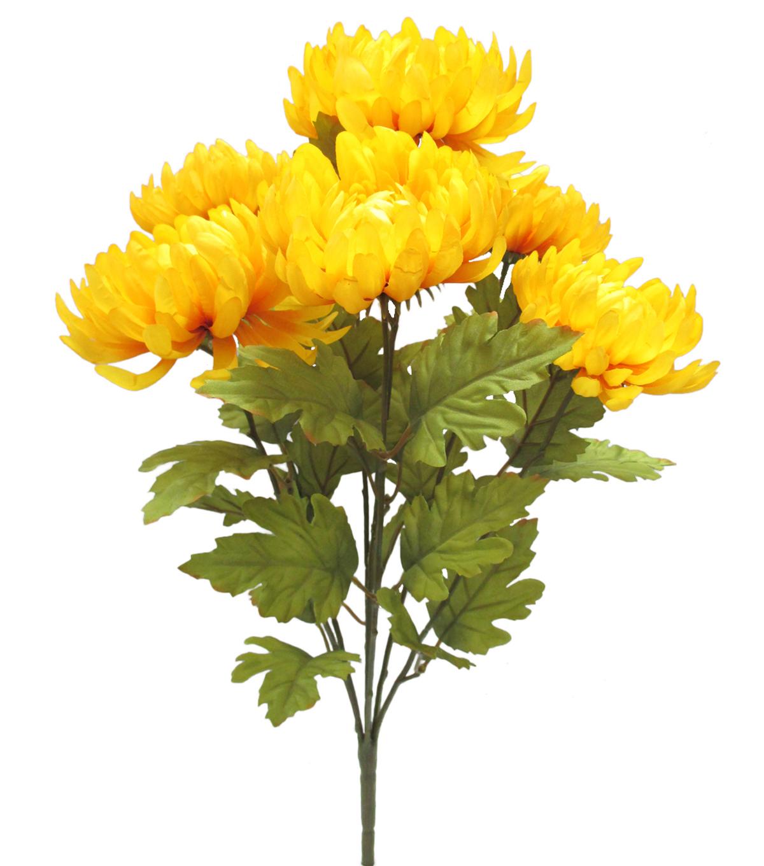 Blooming Autumn 20 Mum Bush Yellow Joann