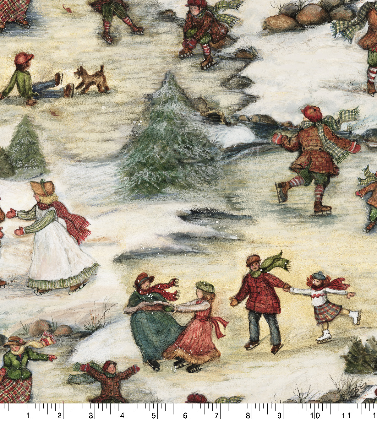 Christmas Cotton Fabric-Winter Ice Dance