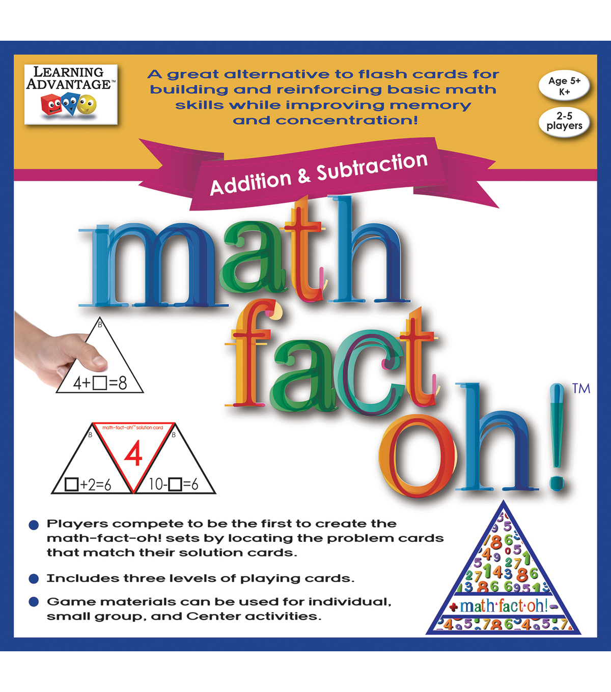 Learning Advantage math-fact-oh! Addition & Subtraction Game