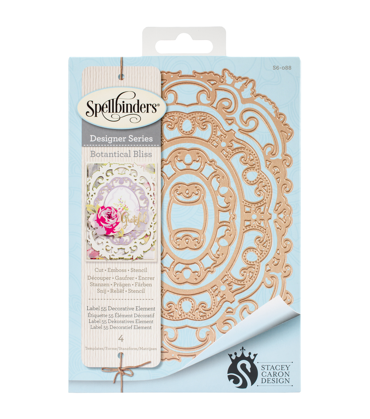 Spellbinders Nestabilities Decorative Element Die-Label 55
