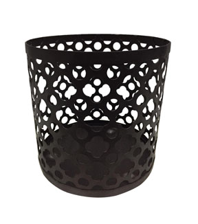 Hudson 43 All Over Design Candle Sleeve-Black