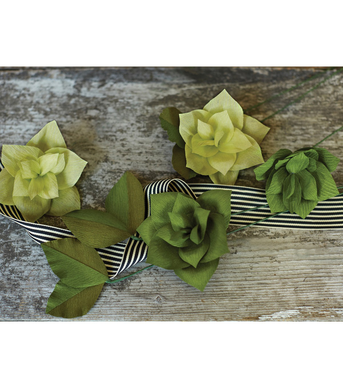 Lia Griffith 2 pk Extra Fine Double-Sided Crepe Papers-Green Tea