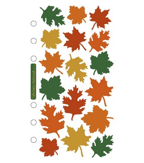 Sticko Stickers-Halloween, Metallic Leaves
