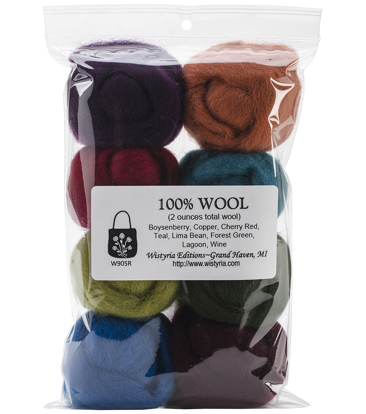 Wistyria Editions The Bouquet Wool Roving Yarn, The Bouquet