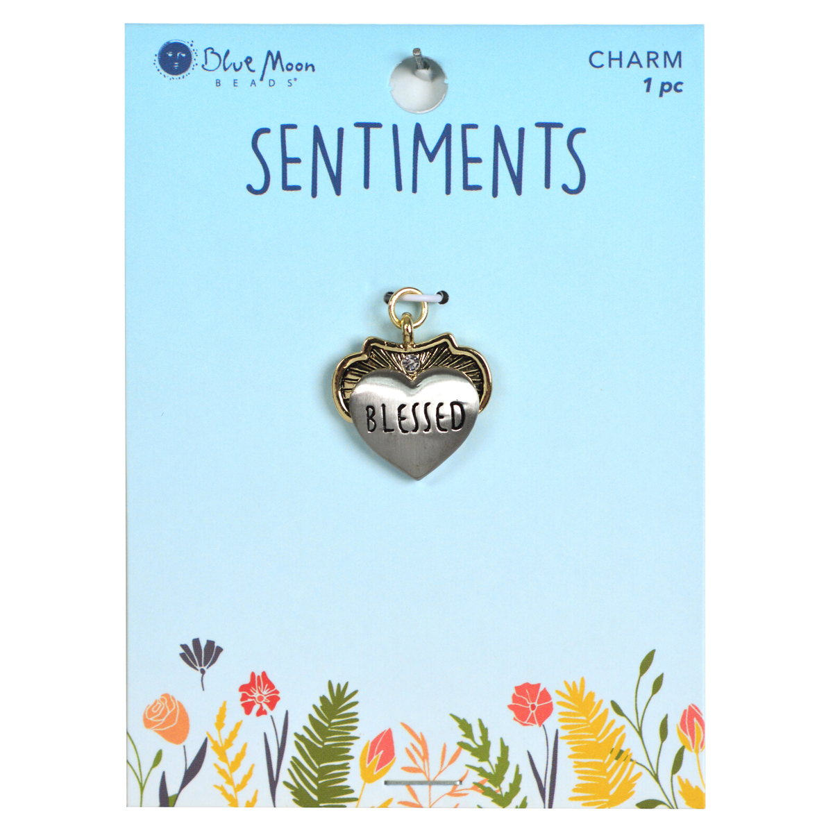 Blue Moon Beads Sentiments Luxe Pendant-Blessed