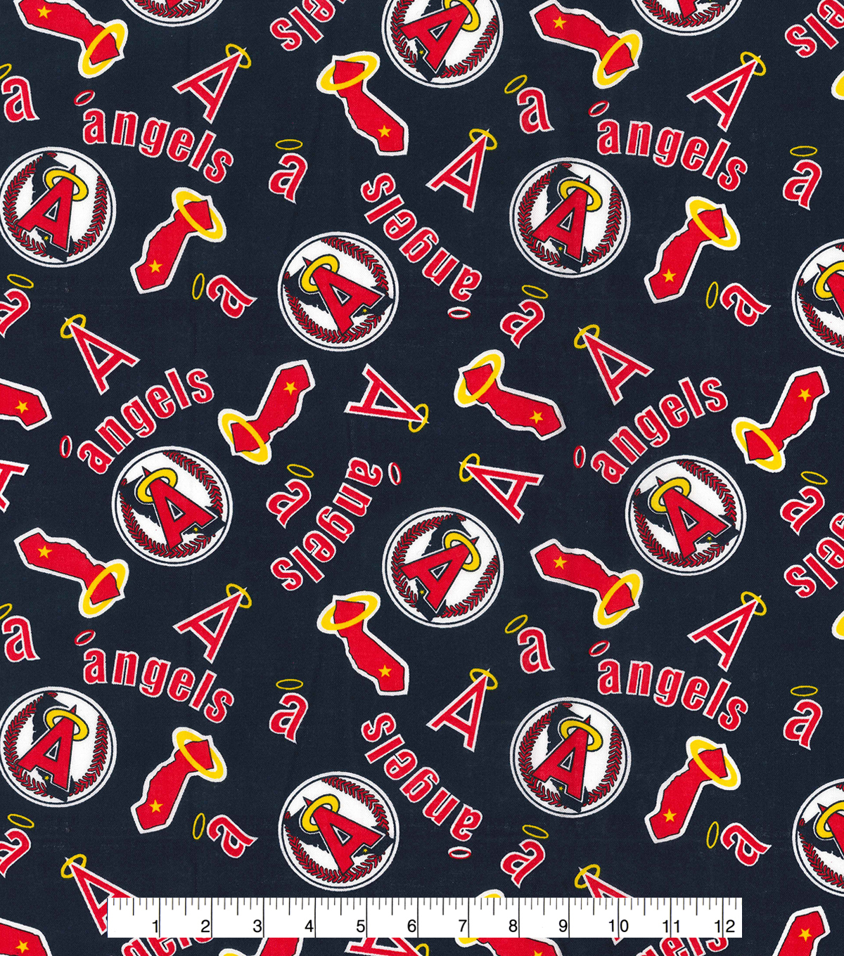 Cooperstown Los Angeles Angels Cotton Fabric