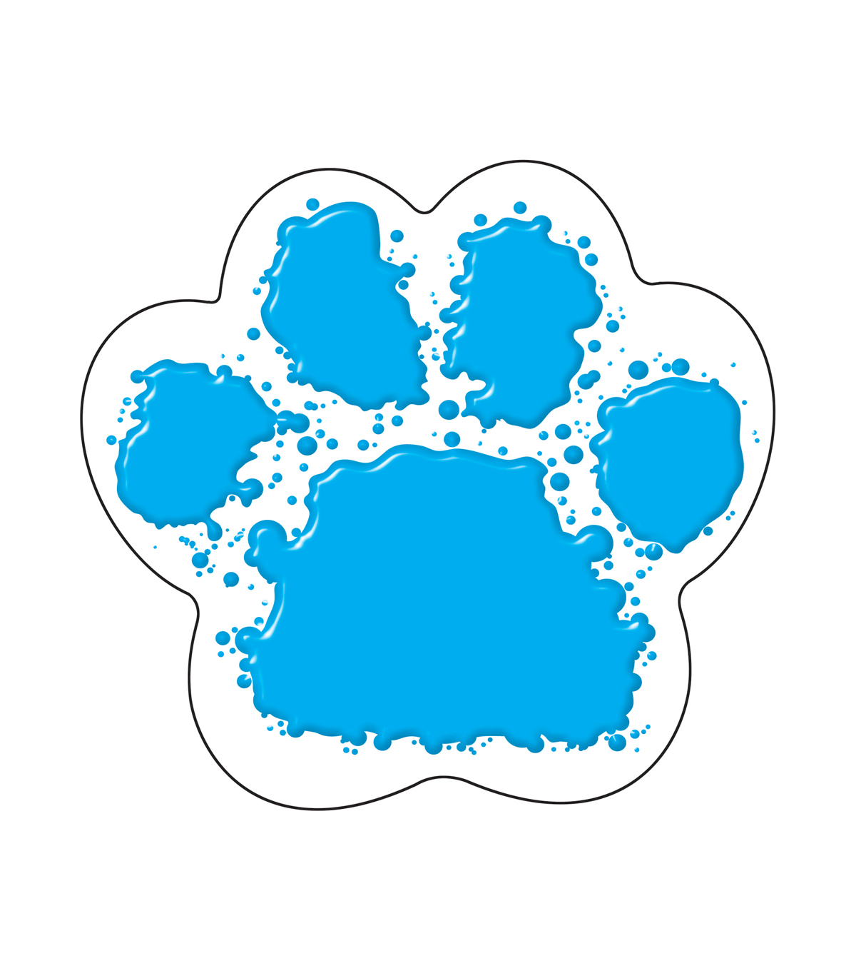 Paw Print Classic Accents, 36 Per Pack, 6 Packs