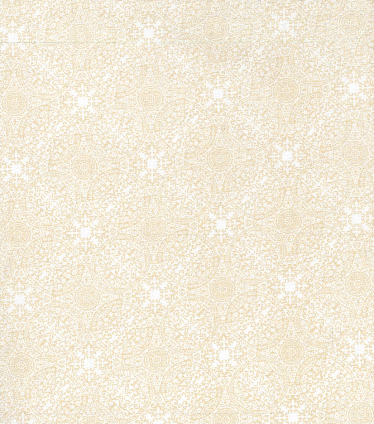 Keepsake Calico Cotton Fabric 43\u0022-Winter White Linked Medallion