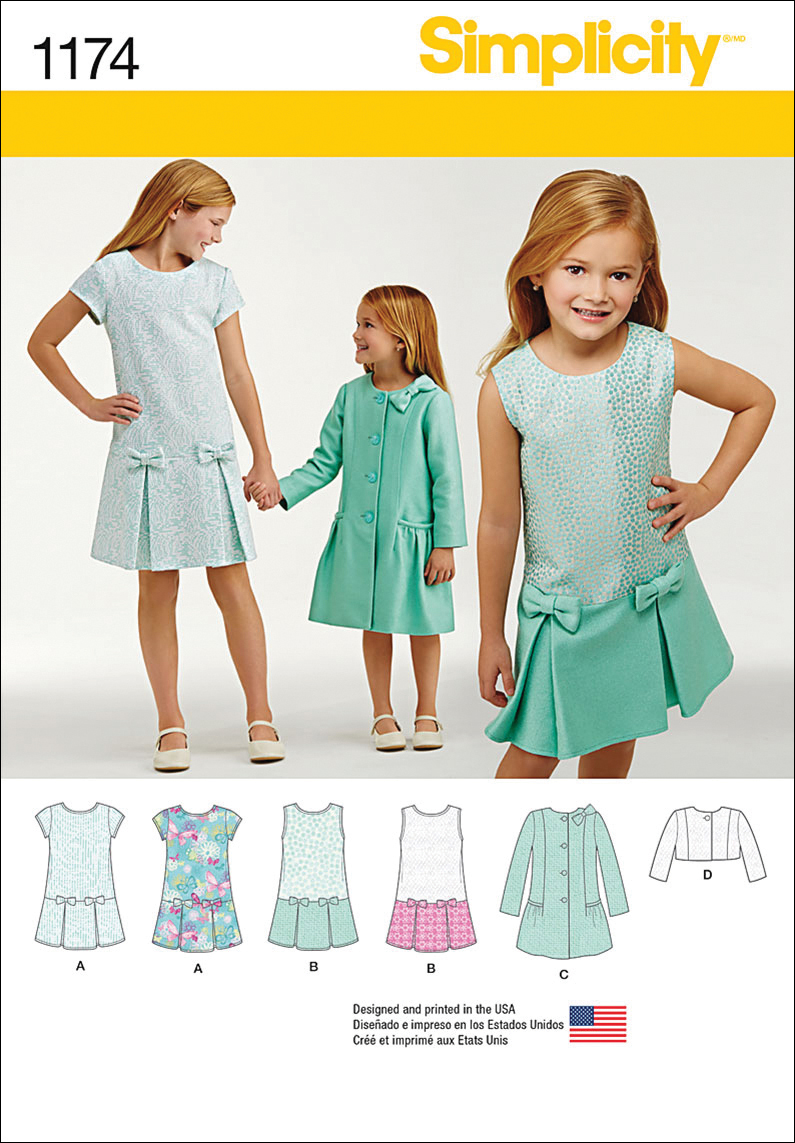 Simplicity Pattern 1174K5 7-8-10-12--Children