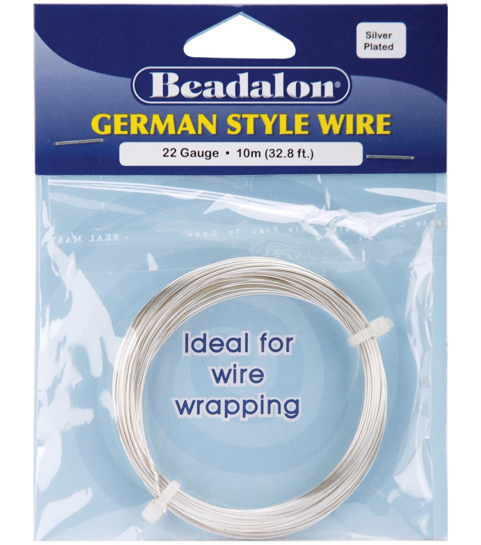 Beadalon german style round wire 22 gauge 328 feetpkg silver joann beadalon german style round wire 22 gauge 328 feetpkg silver keyboard keysfo Images