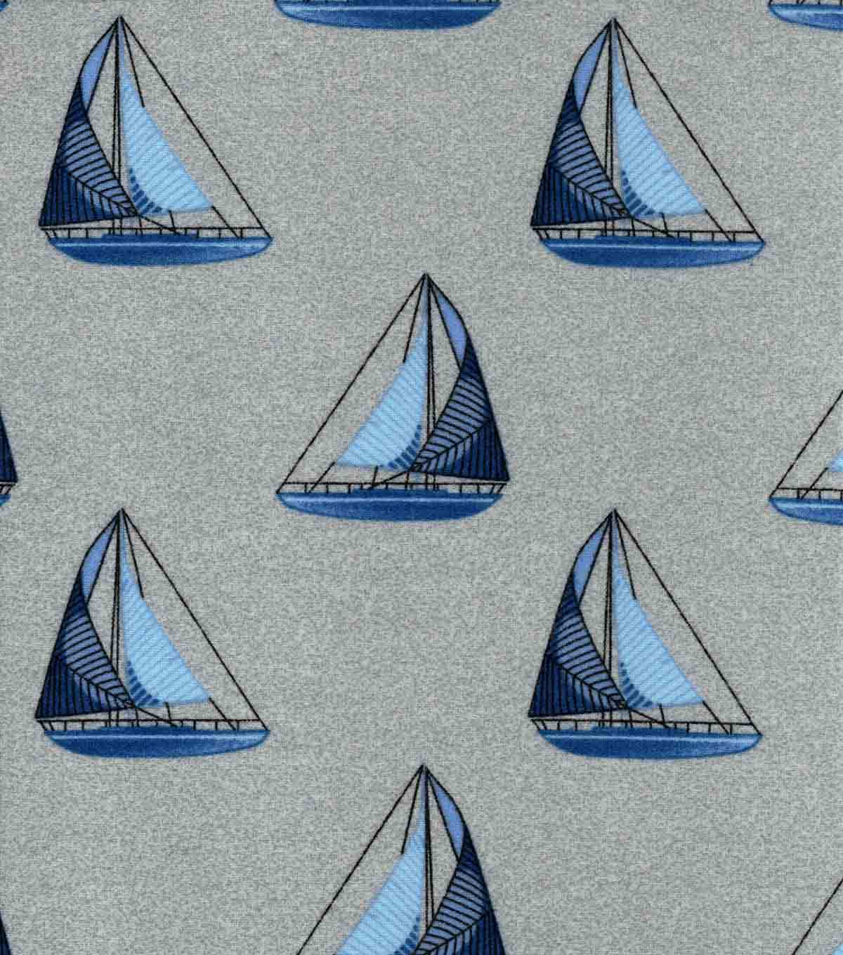 Luxe Flannel Fabric-Sailboat Navy