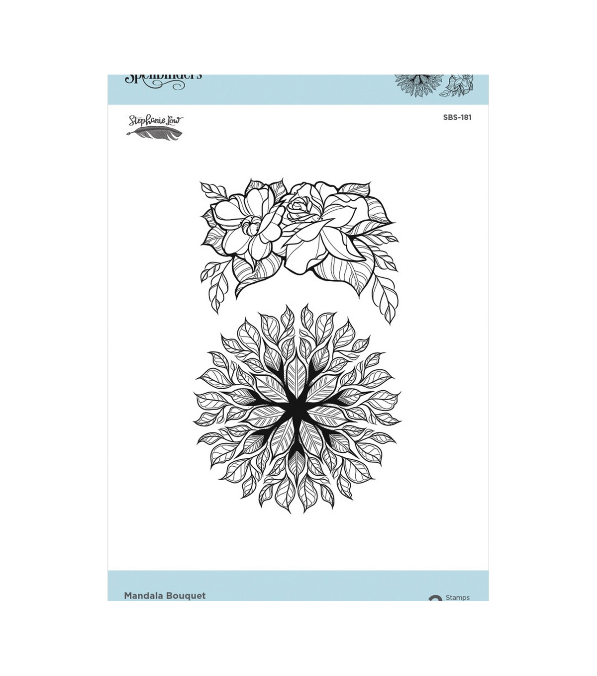 Spellbinders Cling Stamps By Stephanie Low-Mandala Bouquet