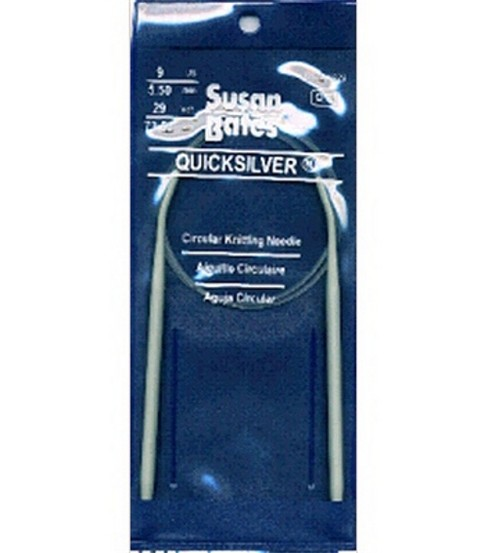 Susan Bates Quicksilver Circular Knitting Needles 29\u0022-Size 9
