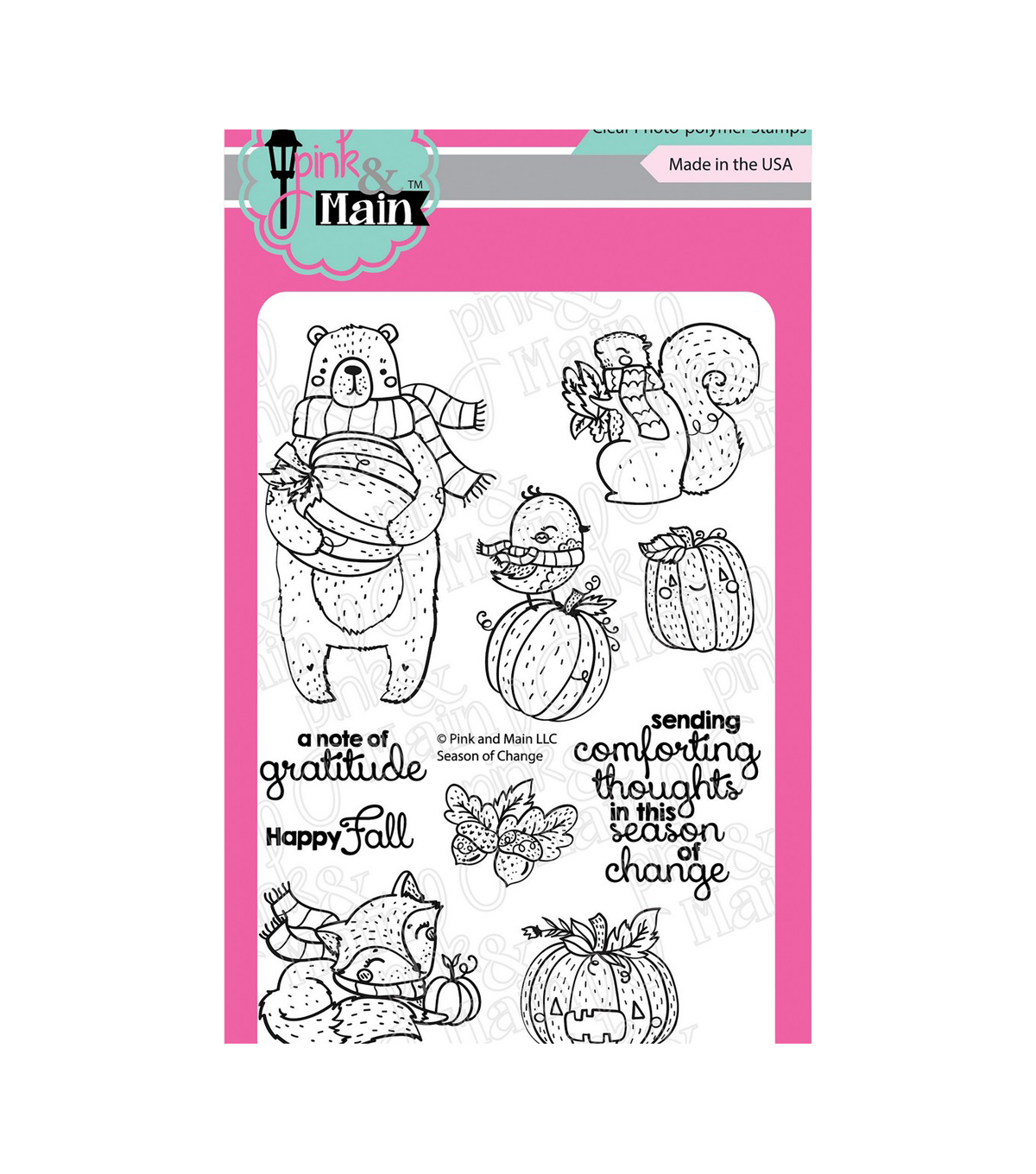 Pink & Main Clear Stamps-Season of Change