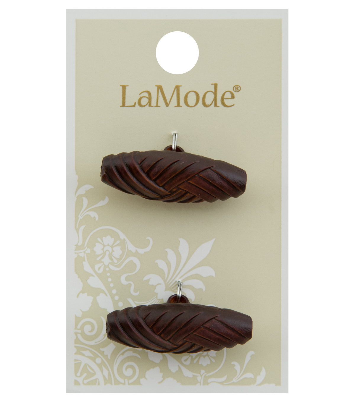 La Mode 2 pk 1.25\u0027\u0027 Toggle Buttons-Brown